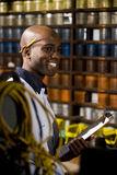 Worker in print shop Stock Photography