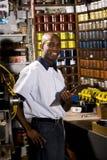 Worker in printshop Stock Photo