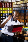 Worker in printshop Royalty Free Stock Photography