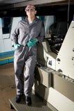 Worker in printshop Stock Images