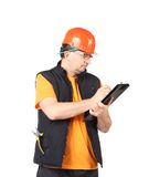 Worker with project. Stock Photography