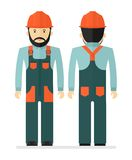Worker in protectiv overalls Stock Photo
