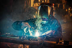 Worker with protective mask. Stock Images
