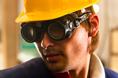 Worker in protective suit Stock Photography