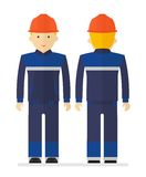 Worker in protective suit Stock Images