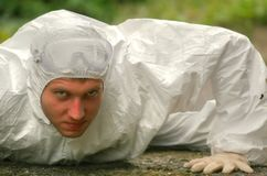 Worker in protective wear Stock Images