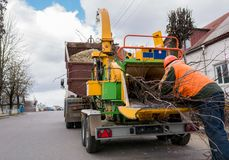 Industrial Wood Chipper. stock images