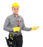 Worker ready to work Stock Photo