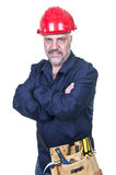Worker with red helmet Stock Photo