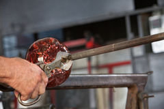 Cutting Glass Object from Iron Stock Images