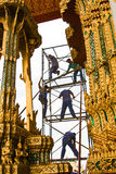 Worker renovate the temple in the Grand palace Stock Photography