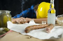 Free Worker Resting After Hard Work Royalty Free Stock Photo - 3436805