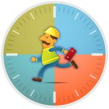 Worker running on time Royalty Free Stock Photography