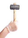 Worker's caucasian male hand holding tool Stock Image