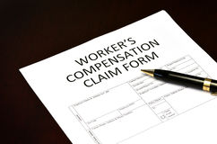 Worker`s Compensation Claim Form Application Royalty Free Stock Photos