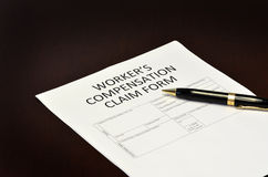 Worker`s Compensation Claim Form Application Stock Photography