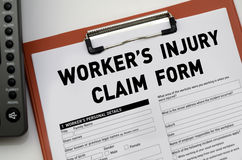 Worker's Injury Claim Form Royalty Free Stock Images