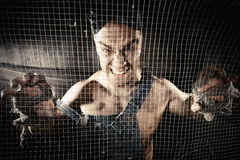 Worker's rage Royalty Free Stock Image