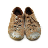 Worker's shoes Stock Photography