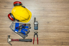 Worker safety equipment Stock Image