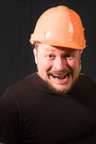 Worker in safety helmet emotional portrait Royalty Free Stock Images