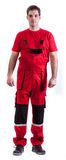 Worker. In safety suit isolated on white background Stock Photos
