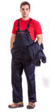Worker. In safety suit isolated on white background Royalty Free Stock Images