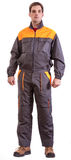 Worker. In safety suit isolated on white background Stock Images