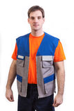 Worker. In safety suit isolated on white background Royalty Free Stock Image