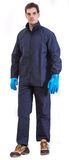Worker. In safety suit isolated on white background Stock Image