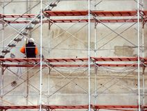 Worker on Scaffold Royalty Free Stock Photos