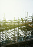 Worker on scaffolding Royalty Free Stock Images
