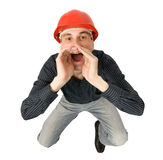 Worker screaming Royalty Free Stock Photos