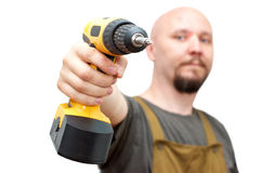 Worker with screwdriver Royalty Free Stock Photography