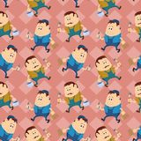 Worker, seamless pattern Stock Photos