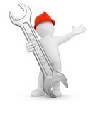Worker with Service Tool Royalty Free Stock Photos