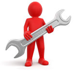 Worker with Service Tool Royalty Free Stock Photo