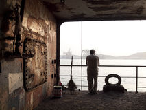 Worker in shipyard Royalty Free Stock Photography