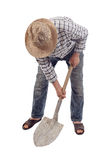 Worker with a shovel Stock Photo
