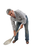 Worker with a shovel Royalty Free Stock Photo