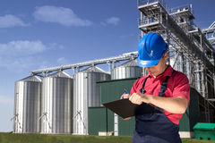Worker in silo company Stock Images