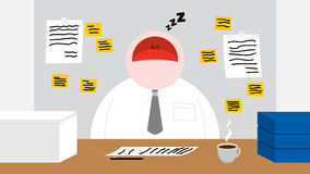 A Worker Sleeping in his Office Room Royalty Free Stock Images