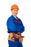 Worker smile Royalty Free Stock Image