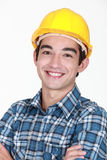 Worker smiling Royalty Free Stock Photos