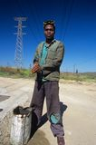 A worker in South Africa. Stock Images