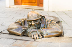 The worker statue Royalty Free Stock Photography
