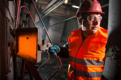 Worker in the steamshop Royalty Free Stock Photos