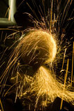 A worker is steel and sparks Stock Images