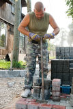 Worker on street Stock Image