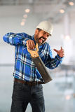 Worker Suffering Accident Stock Photography